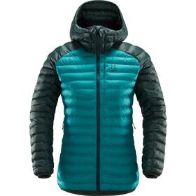 Haglöfs W's Essens Mimic Hood Jacket Alpine Green/Mineral